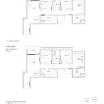 Penrose Floor Plan - 3 Bedroom Type (3)b+b1