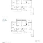 Penrose Floor Plan - 3 Bedroom Type (3)a1+a