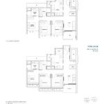 Penrose Floor Plan - 3 Bedroom Type (3Y)b1+b