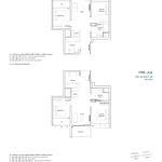 Penrose Floor Plan - 2 Bedroom Type (2)a+b