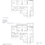 Penrose Floor Plan - 3 Bedroom Type (3Y)b+b1