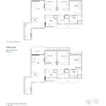 Penrose Floor Plan - 3 Bedroom Type (3)d1+d