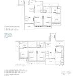 Penrose Floor Plan - 3 Bedroom Type (3Y)d+e