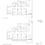 Penrose Floor Plan - 3 Bedroom Type (3+1)a+a1