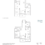 Penrose Floor Plan - 2 Bedroom Type (2+1)a +b