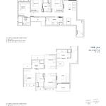 Penrose Floor Plan - 3 Bedroom Type (3)c+e