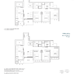 Penrose Floor Plan - 3 Bedroom Type (3Y)c1+c