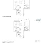 Penrose Floor Plan - 2 Bedroom Type (2P)b1+b