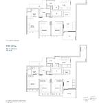 Penrose Floor Plan - 3 Bedroom Type (3Y)a1+a