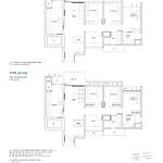 Penrose Floor Plan - 3 Bedroom Type (3+1)b1+b