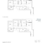Penrose Floor Plan - 3 Bedroom Type (3)b1+b