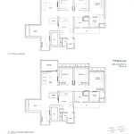 Penrose Floor Plan - 3 Bedroom Type (3+1)c1+c