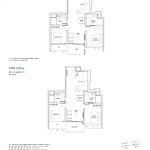 Penrose Floor Plan - 2 Bedroom Type (2P)a1+a
